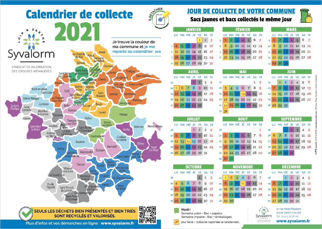 Calendrier Syvalorm 2021 BD